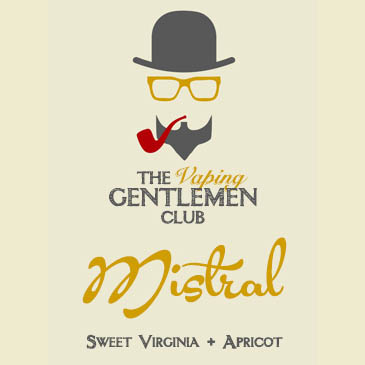 Badge of vintage gentlemen club design element